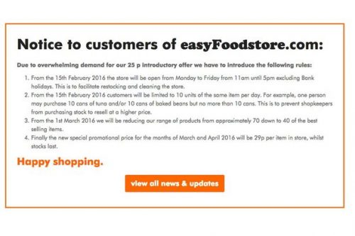 easyFoodstore-website-notice
