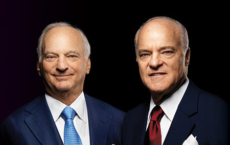 KKR Co-CEOs George R. Roberts (left) and Henry R. Kravis