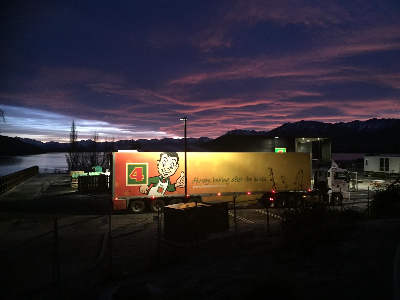 Deliveries arrive at dawn_Tekapo