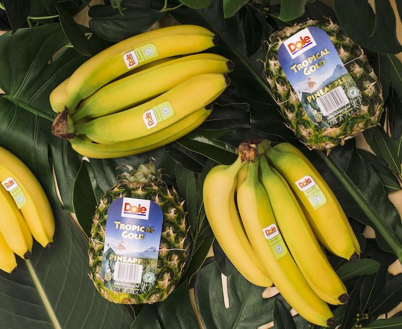 Dole RA Bananas and Pineapples