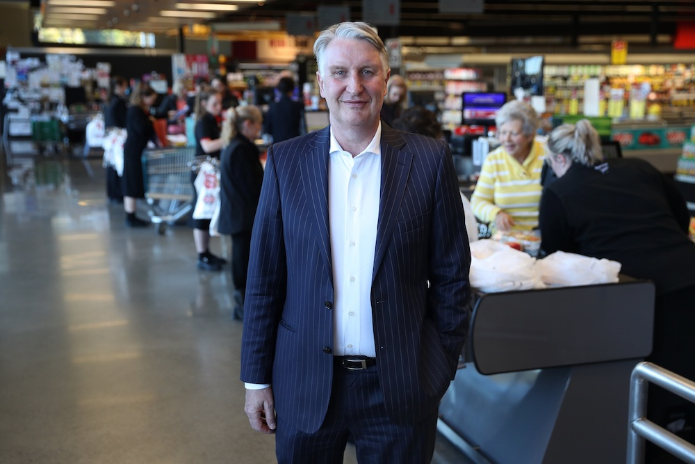 Steve Anderson  Managing Director of Foodstuffs New Zealand pictured at Ilam New World supermarket in Christchurch.  