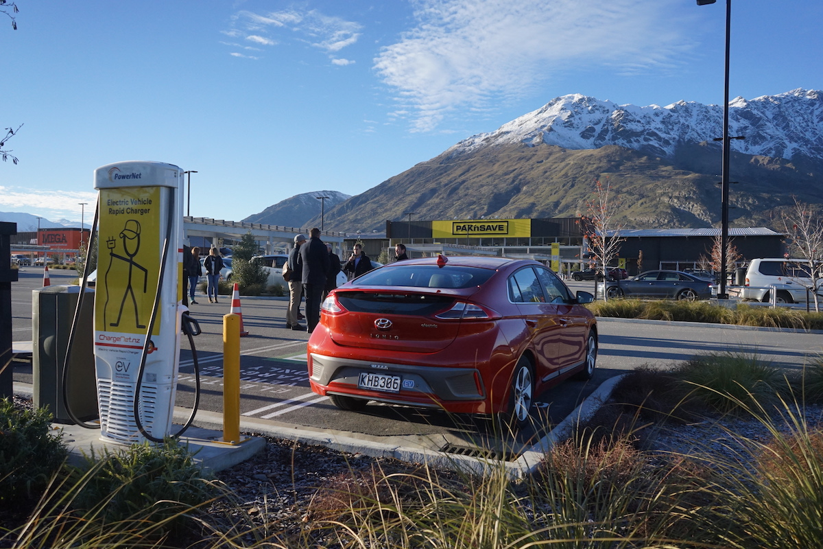 EV Charger in one of the most beautiful places in NZ