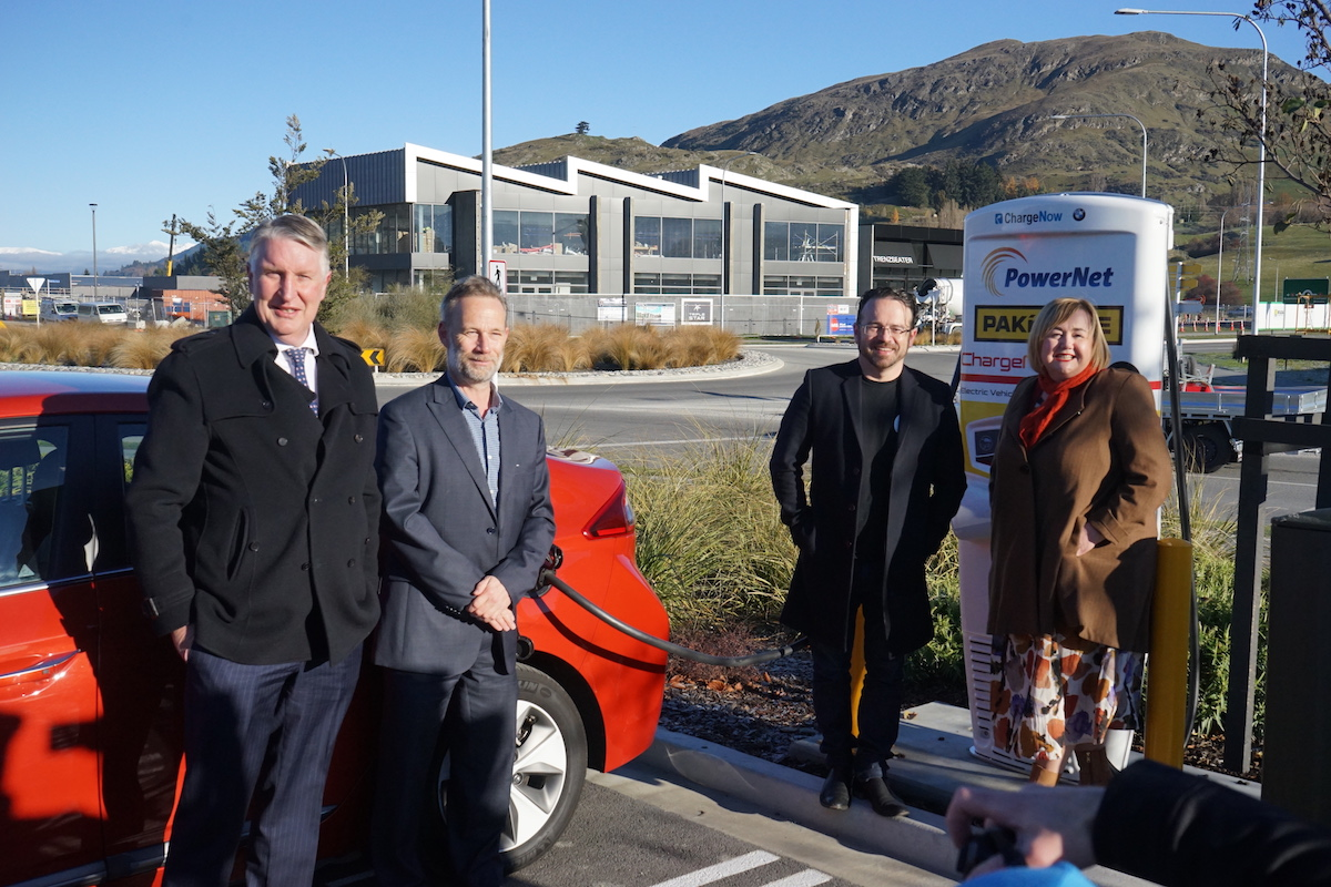 Team at EV Charger Launch ZQN