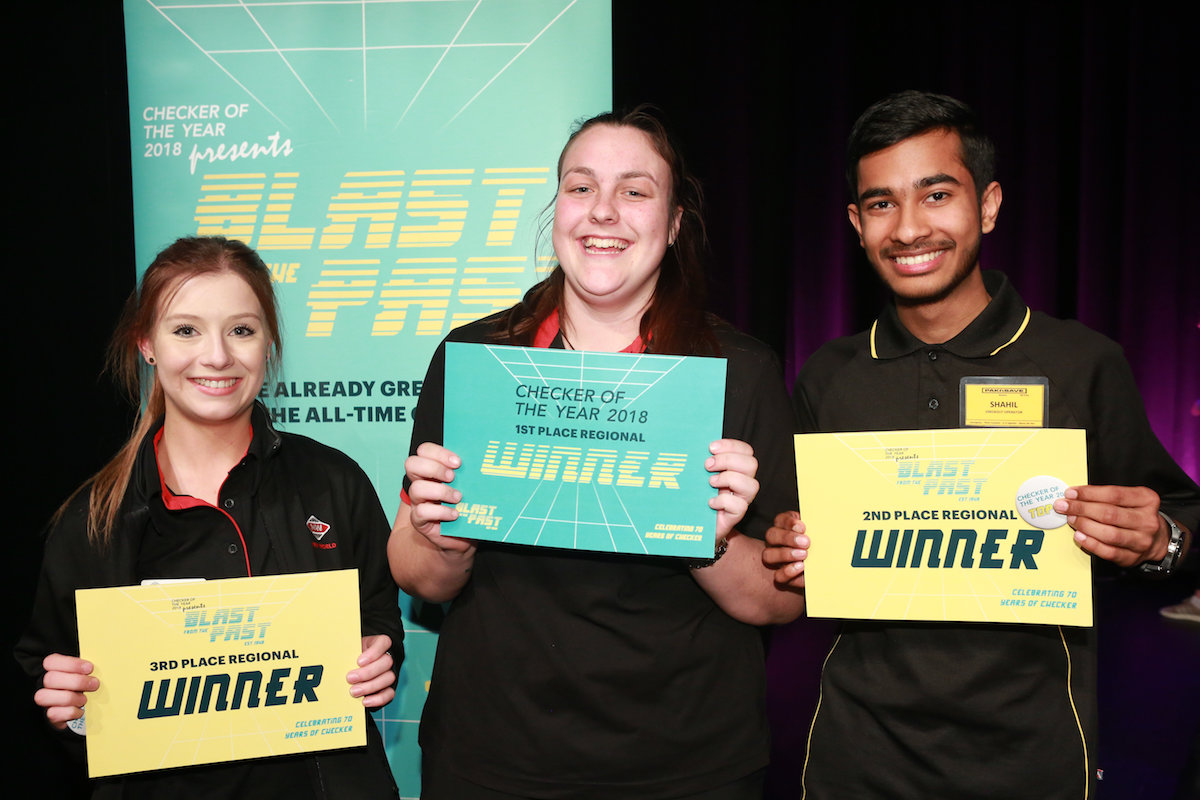 Auckland South winners- From left, Bronwyn Webber, Paige Brown, Shahil Raj