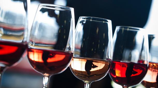 Line up of Rosé wines