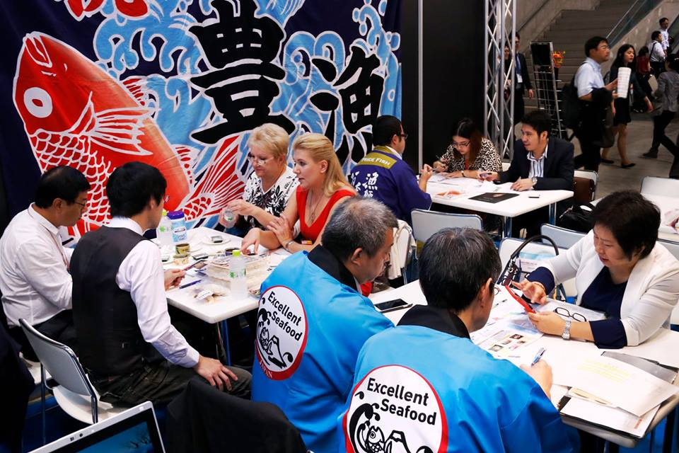 """A meeting takes place at the """"Japan's Food"""" Export Fair"""