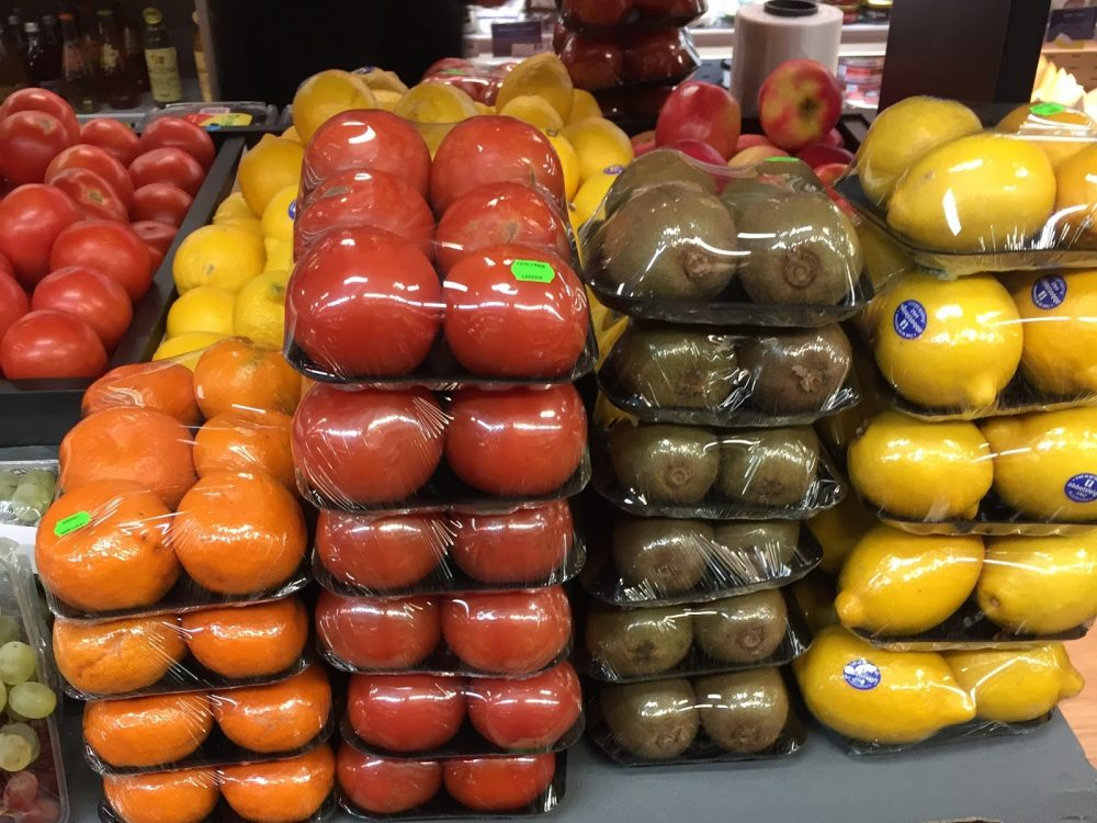 SALE OF PLASTIC BOTTLES AND PLASTIC-WRAP PRODUCE FALL
