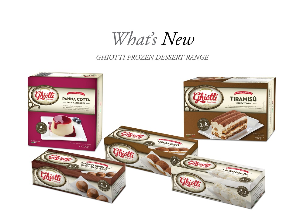INDULGENT MOMENTS - Ghiotti's dessert range