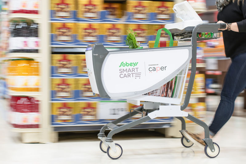 Sobeys Smart Carts in motion