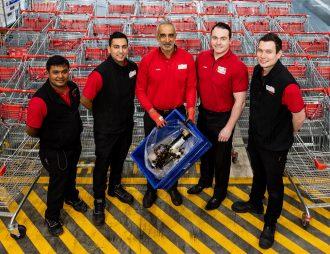Team at Coles Supermarket