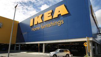 IKEA furniture outside