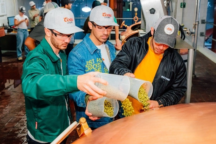 Jonas brothers at Coors brewery