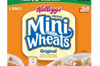 Kellogg's mini wheats original flavour packaging