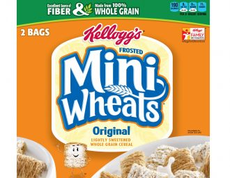 Kellogg's mini wheats original flavour packaging