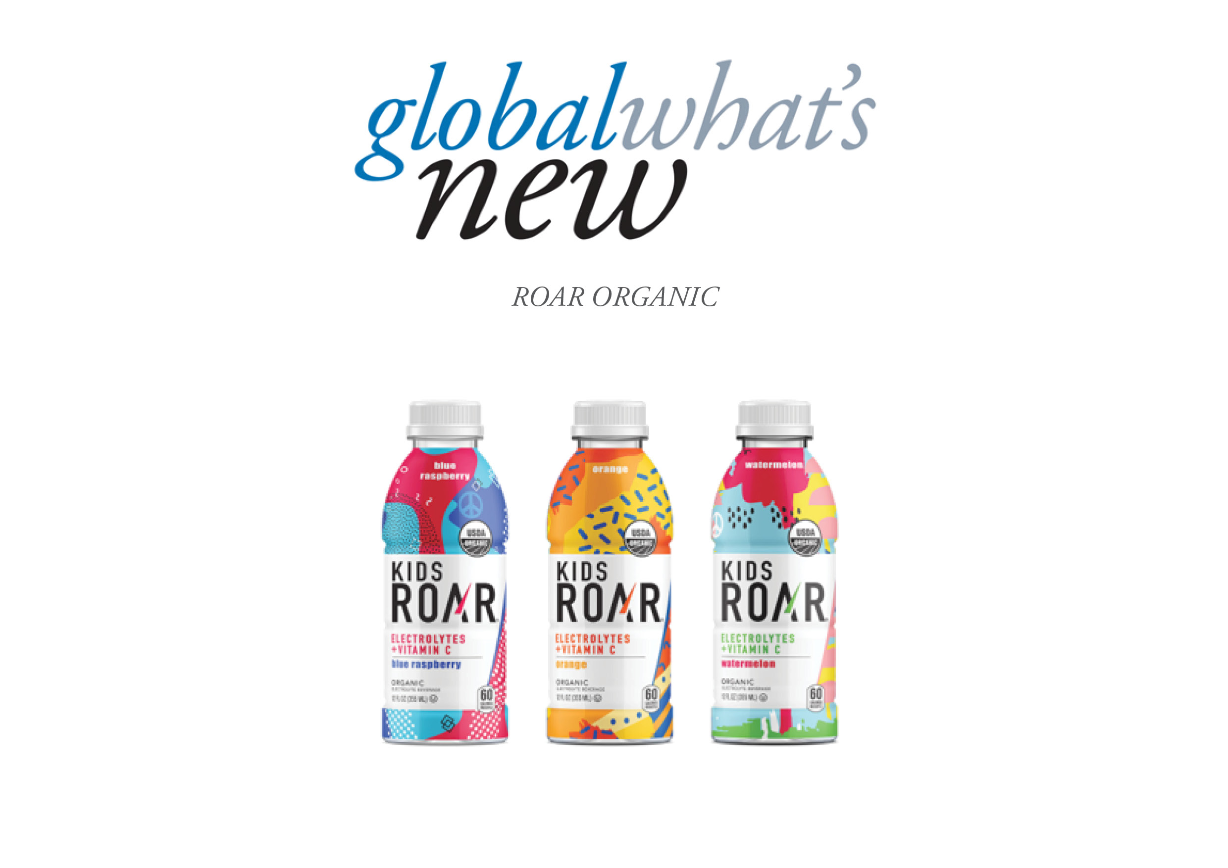 bottles of roar kids drinks