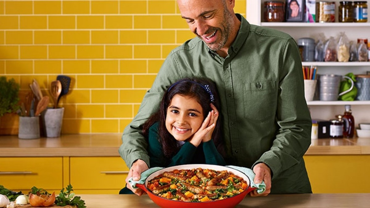 Tesco meat-free ad father and daughter actors