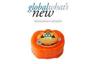 Pumpkin-shaped Wensleydale cheese