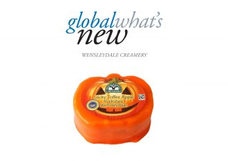 Pumpkin-shaped Wensleydale cheese