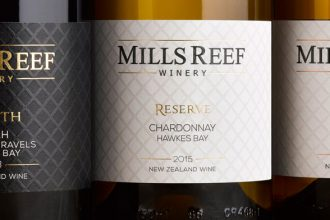 Mills Reef Winery labels