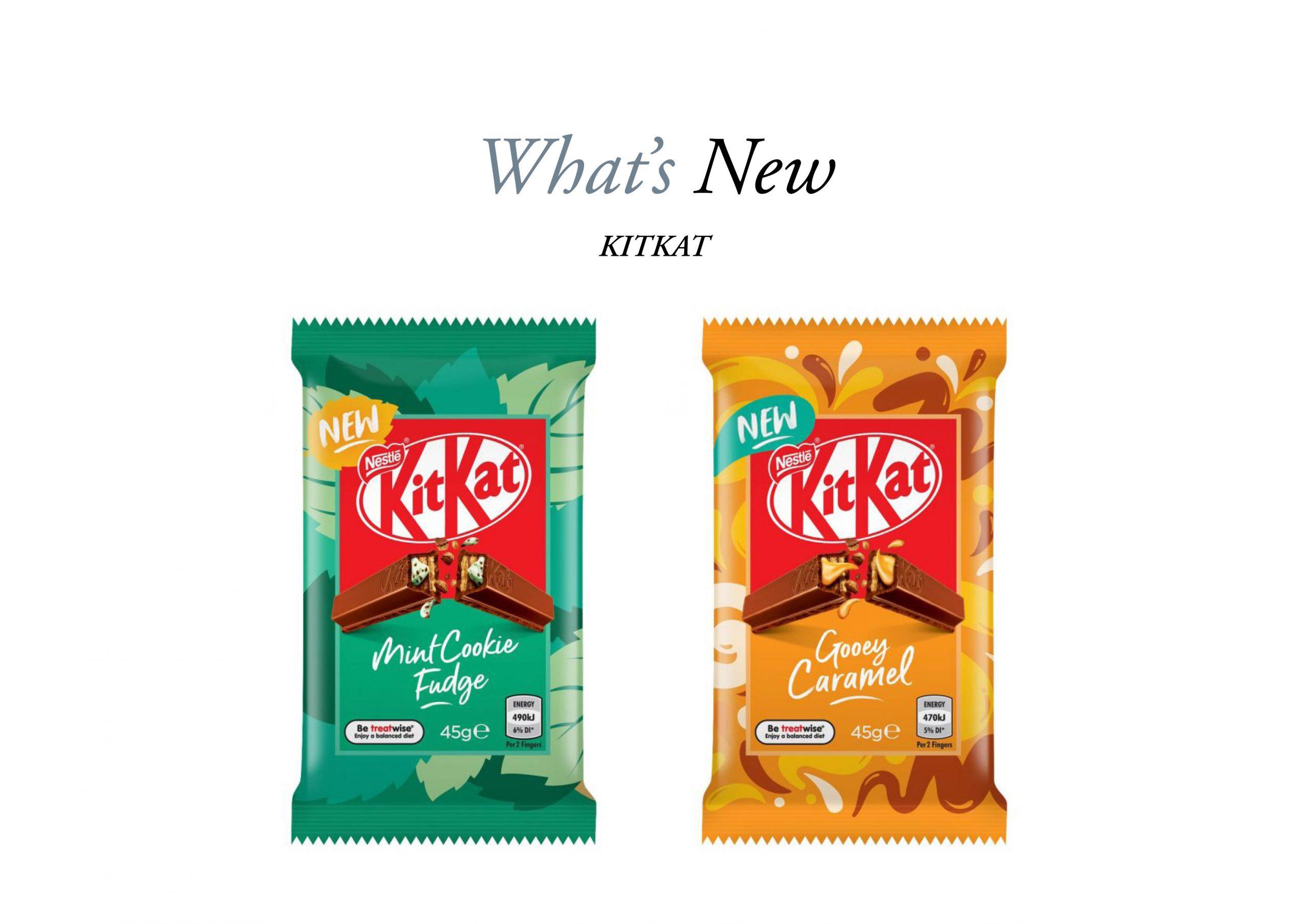 Packets of KitKat Fudge