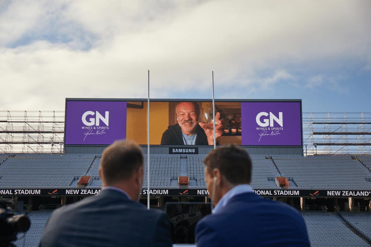 Graham Norton's new wine on biggest screen in NZ