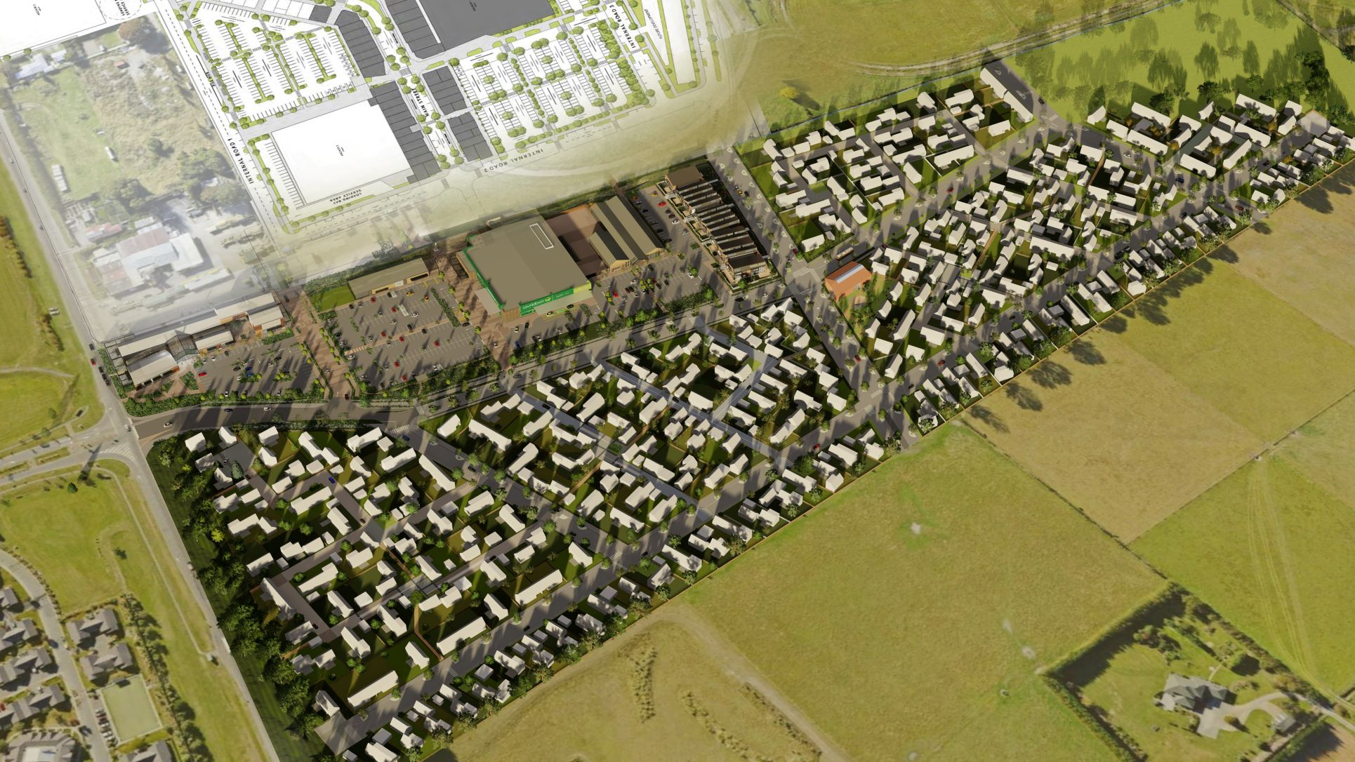 Halswell development from above 2..