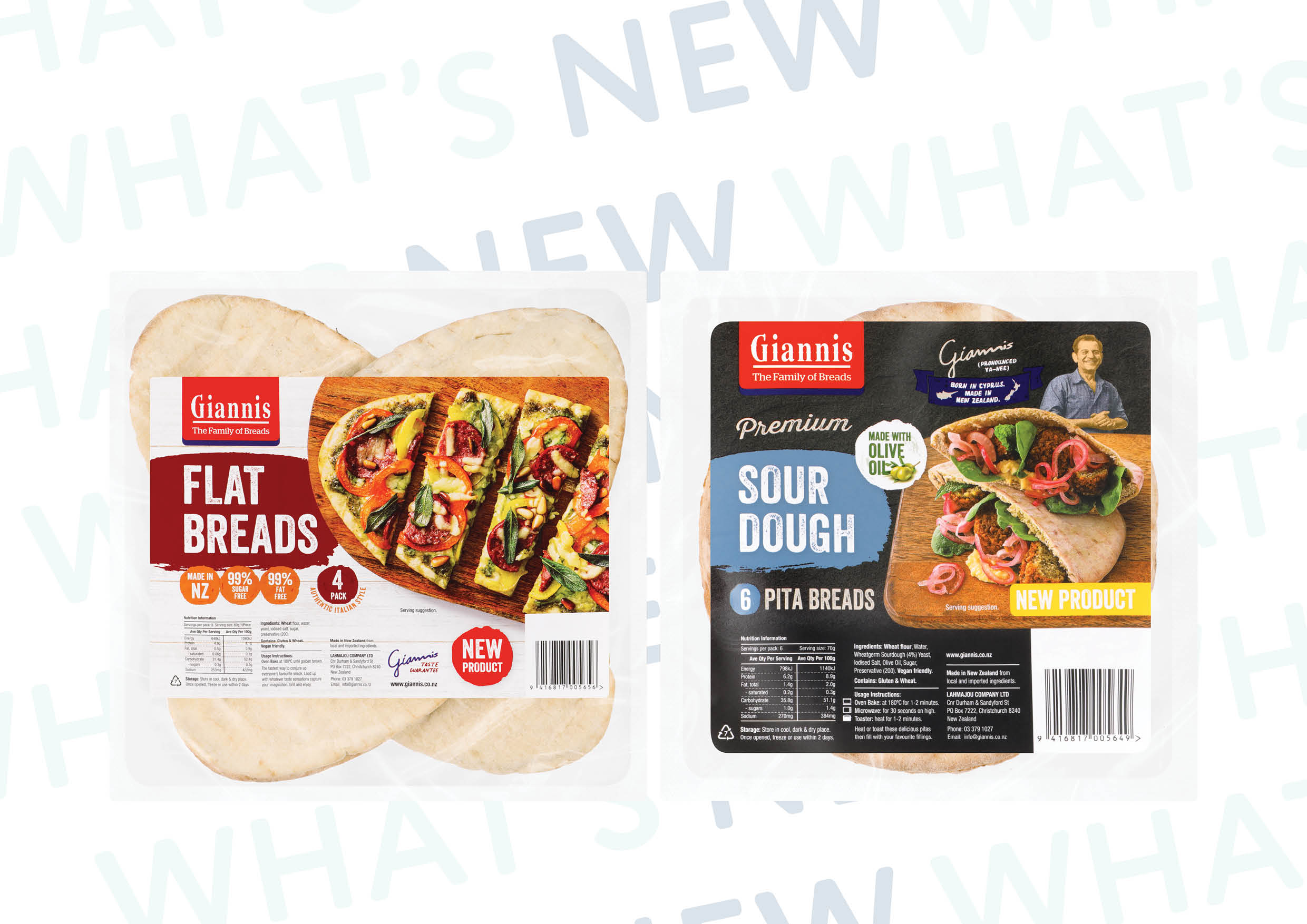 New Pita Bread Innovation from Giannis